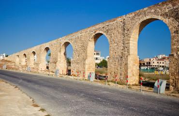 Ancient aqueduct in Larnaca, Cyprus