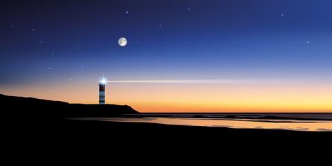 Paysage phare-mer