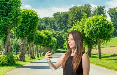 Selfie im Park