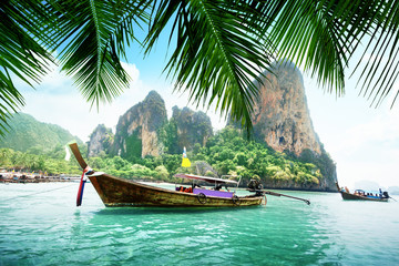 Fotomurales - Railay beach in Krabi Thailand
