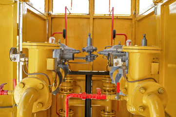 Piping systems, industrial equipment, interior - Gas station pip