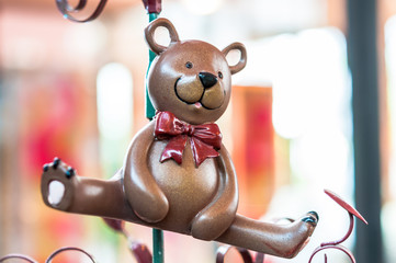 Bear toy, ornament decorate merry christmas and happy new year