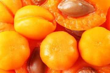 Fruit apricot jelly candies background