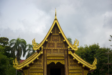 Old Thai temple style, Chiang mai, Thailand