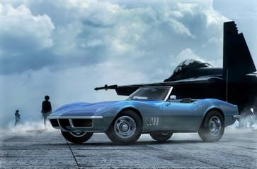 klassischer US Sportwagen