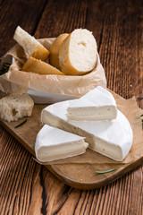 Pieces of creamy Camembert