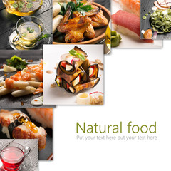 Natural food collage