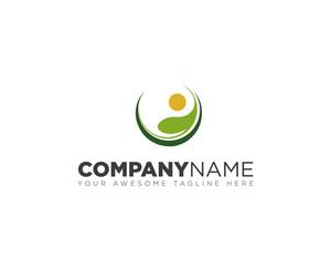 Circle plant logo design
