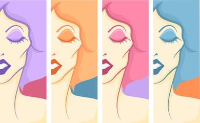 Girl Drag Queen Pop Art Panels