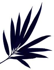 대나무 줄기와 잎새를 면으로 표현