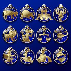 Gold zodiac signs