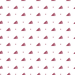 Seamless pattern with pizza icon