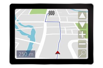 GPS satellite navigation system.