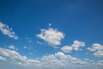 view of white clouds with blue sky