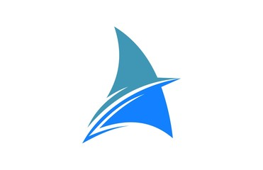 abstract sailing boat logo