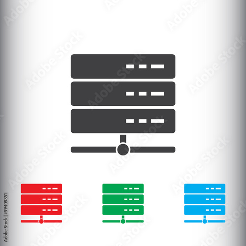 Database server icon, sign icon, vector illustration