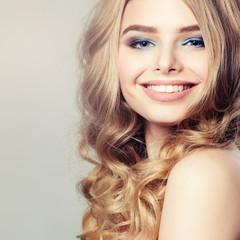 Cute Girl. Healthy Skin and Hair