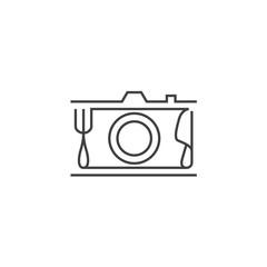 Camera Food Vintage Logo
