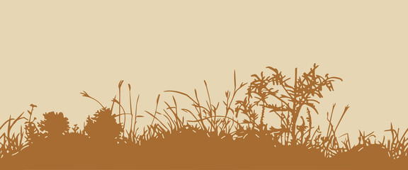Grass. Horizontal seamless pattern