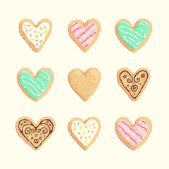 St Valentines cookies collection