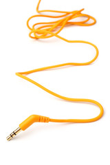 Orange audio cable 3,5mm jack plug