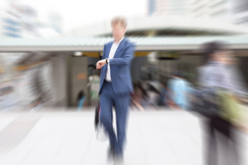 motion blur business people