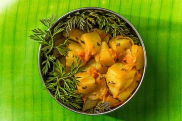 サブジ インドのポテト料理  Potato dish of Sabzi India