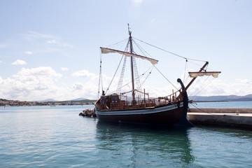 One beautiful sailing-ship