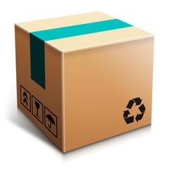 Obraz Kartonowe pudełko - fototapety do salonu