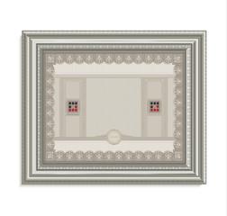 Certificate frame image card paper 3D cube horizontal raster blank