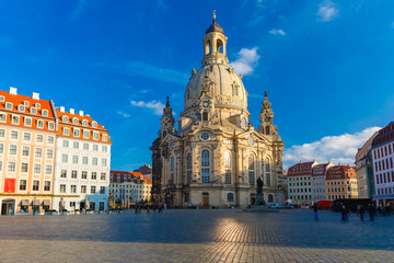 Keuken foto achterwand Wenen Frauenkirche in the morning, Dresden, Germany