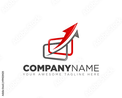 arrow logo design inspiration stock image and royalty free vector