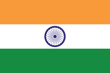 Flag of India illustration 3 stylish colors Fotomurales