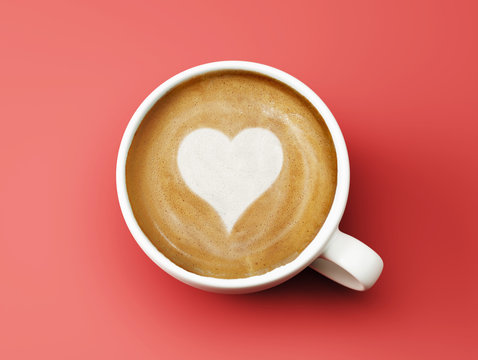 Heart Shape Coffee Cup Concept