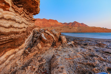 Layers of rock, the mountains of the Dead Sea