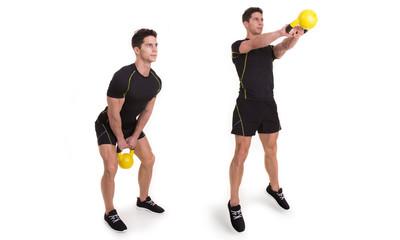 Kettlebell, Shoulder Swing Jump, Exercise