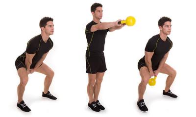 Kettlebell, Shoulder Swing Step Exercise