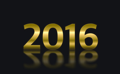 number year change to 2016 year, New year concept.