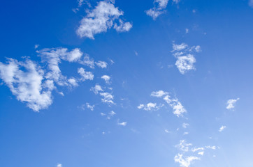 blue sky have white cloud