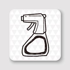 cleaner bottle doodle