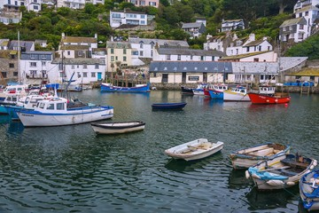 Fotomurales - Cornwall, Polperro, Hafen, Heritage Museum