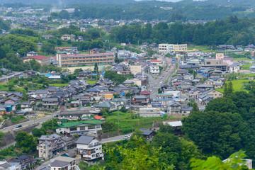 Landscape of Achi village in Nagano, Japan