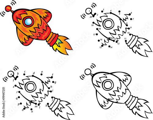 u0026quot cartoon rocket  vector illustration  coloring and dot to dot gam u0026quot  immagini e vettoriali royalty