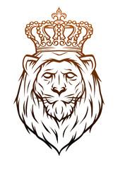 King lion heraldic symbol.