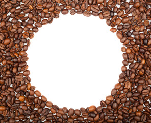 Fframe of coffee beans for the photos