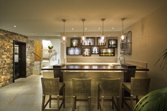 Beautiful bar at a house