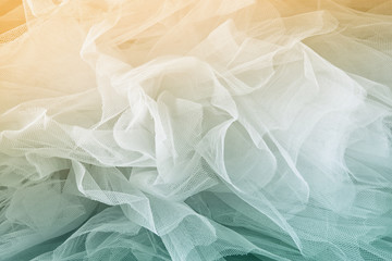 Vintage tulle chiffon texture background. wedding concept. vintage filtered and toned image