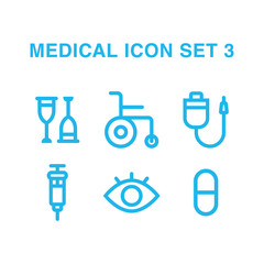 Vector medical Icon Set 3 made in flat style