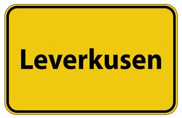 Ortstafel Leverkusen in Deutschland