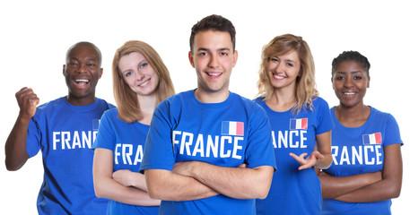 Gruppe Fans Frankreich